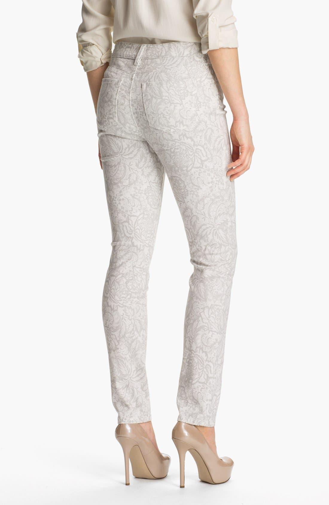 Alternate Image 2  - NYDJ 'Alisha' Print Skinny Stretch Ankle Jeans (Petite)