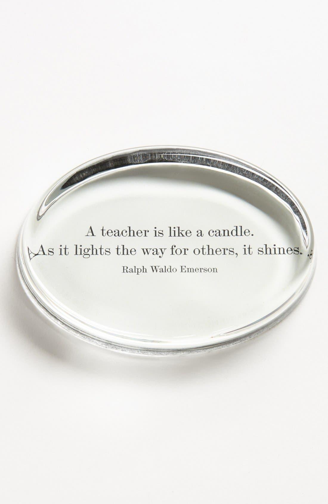 Main Image - Ben's Garden 'A Teacher is Like a Candle' Paperweight