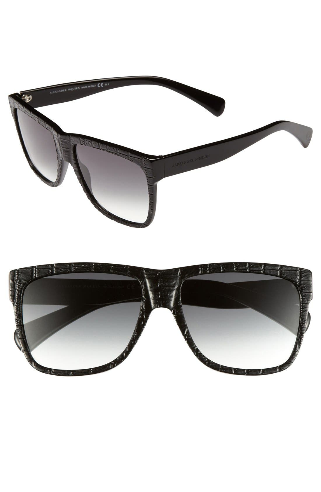 Main Image - Alexander McQueen 55mm Retro Sunglasses