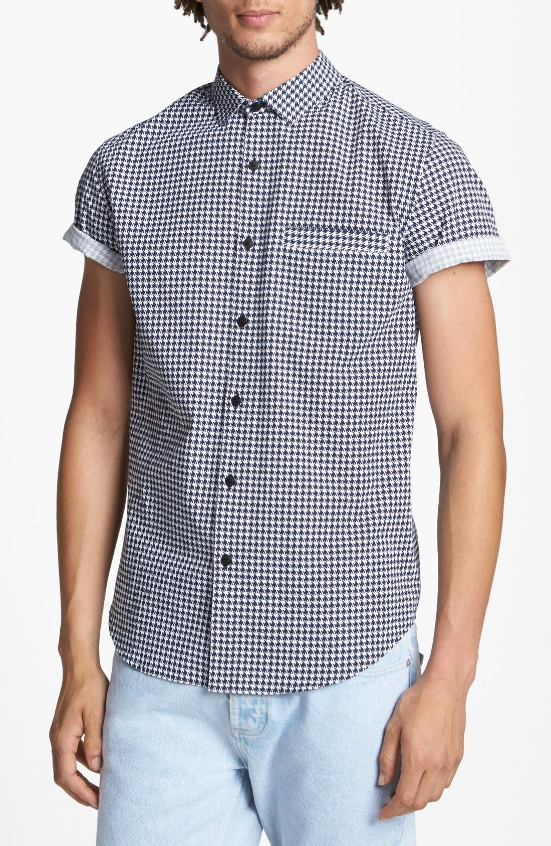 Alternate Image 1 Selected - Topman Micro Houndstooth Shirt
