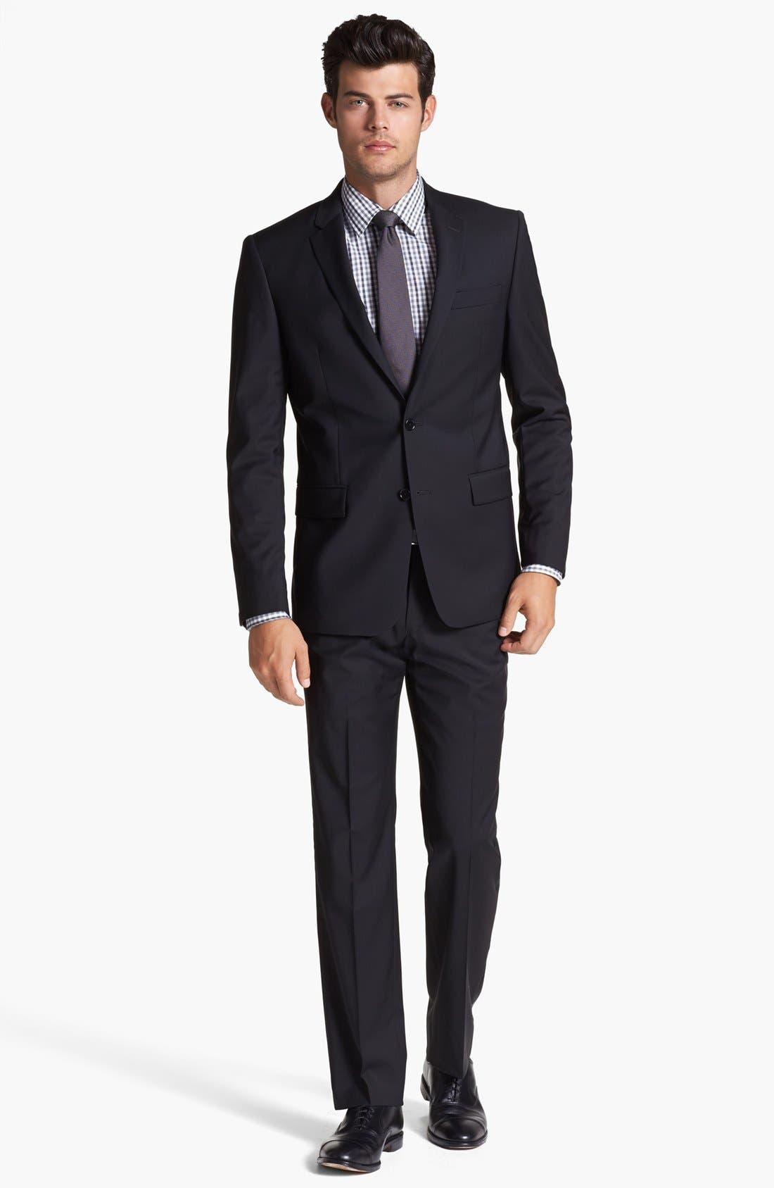 Alternate Image 4  - John Varvatos Star USA 'Townshend' Trim Fit Black Wool Blazer