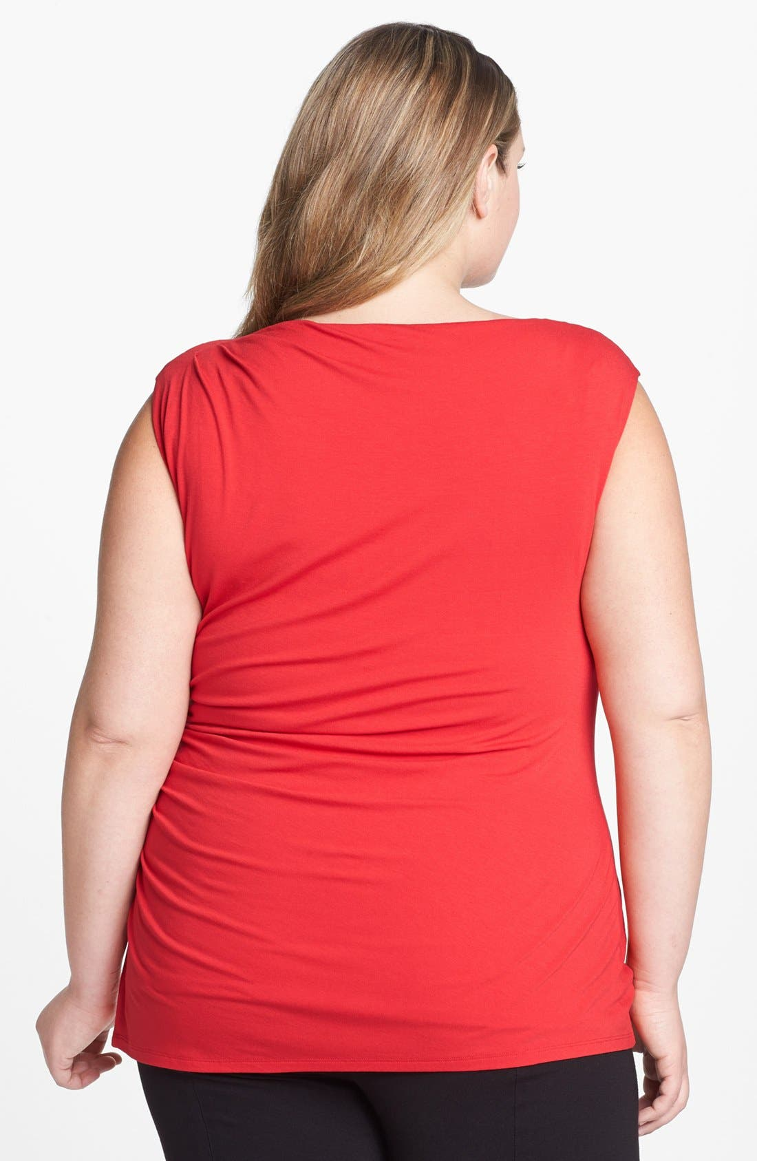 Alternate Image 2  - Vince Camuto Ruched Top (Plus Size)