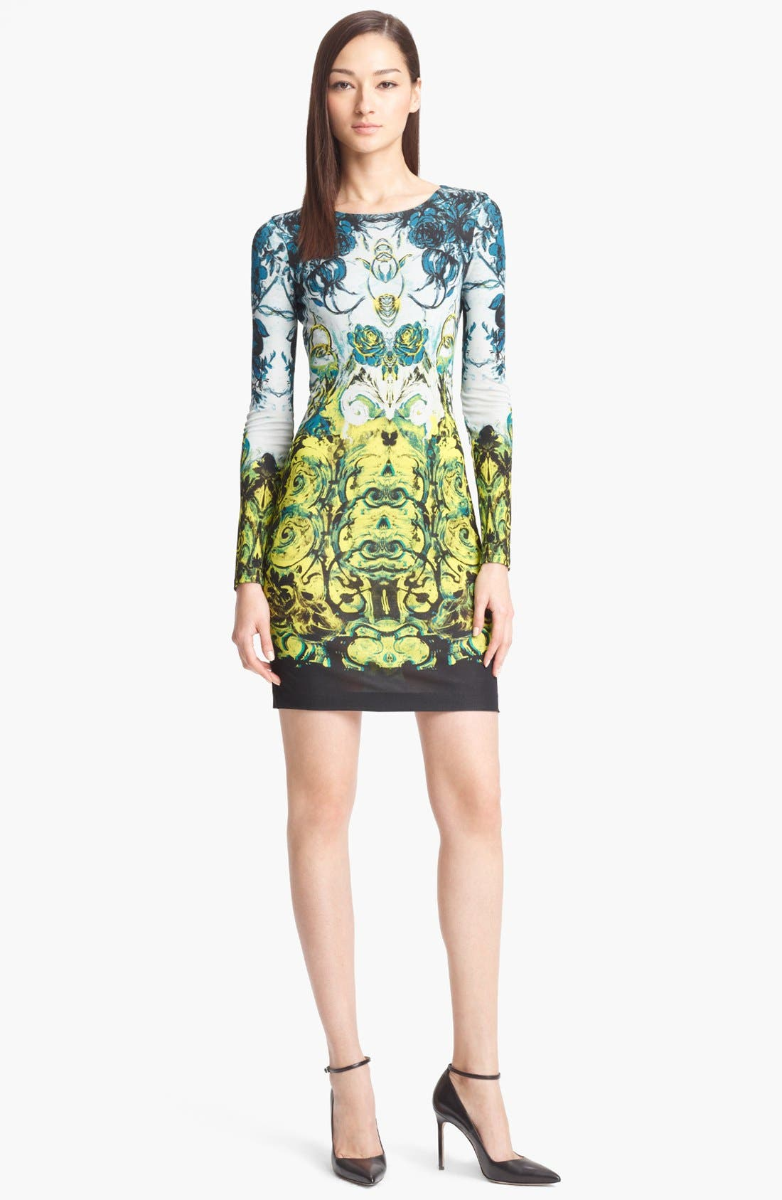 Alternate Image 1 Selected - Roberto Cavalli 'Novella Print' Jersey Dress