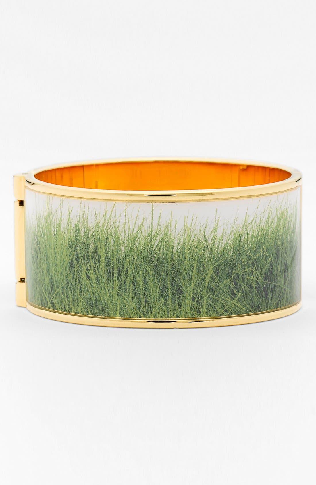 Main Image - kate spade new york 'on par' grass print hinged bracelet