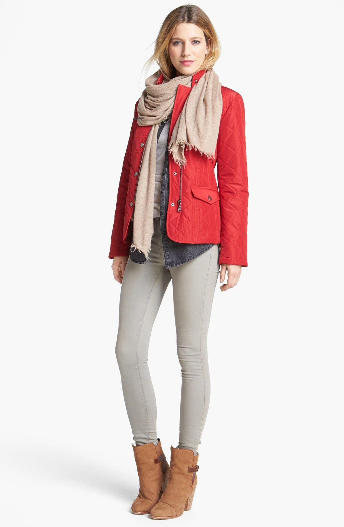 Alternate Image 2  - KUT from the Kloth 'Jennifer' Skinny Jeans (Taupe Grey)