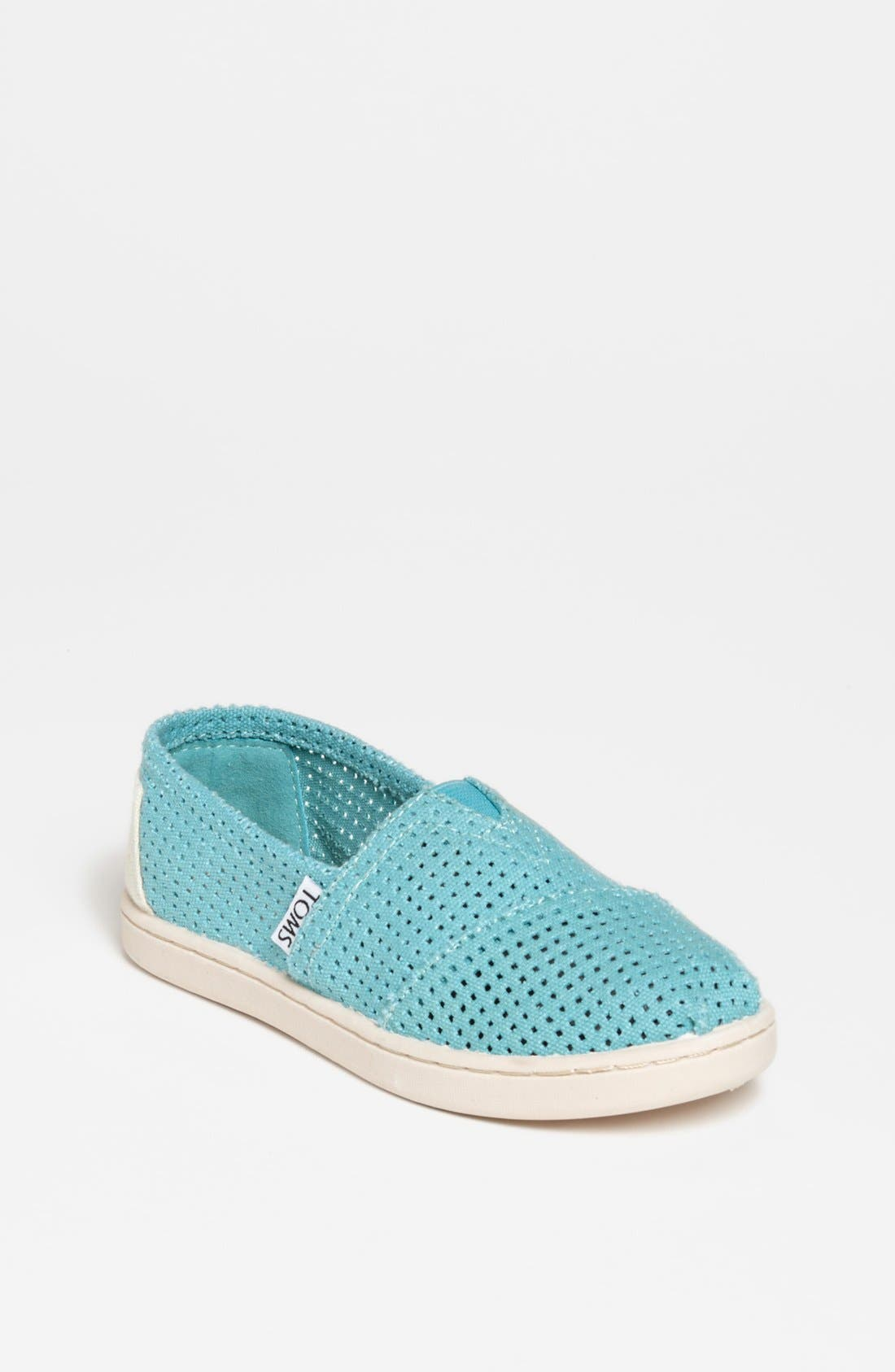 Alternate Image 1 Selected - TOMS 'Classic - Youth' Perforated Slip-On (Toddler, Little Kid & Big Kid)