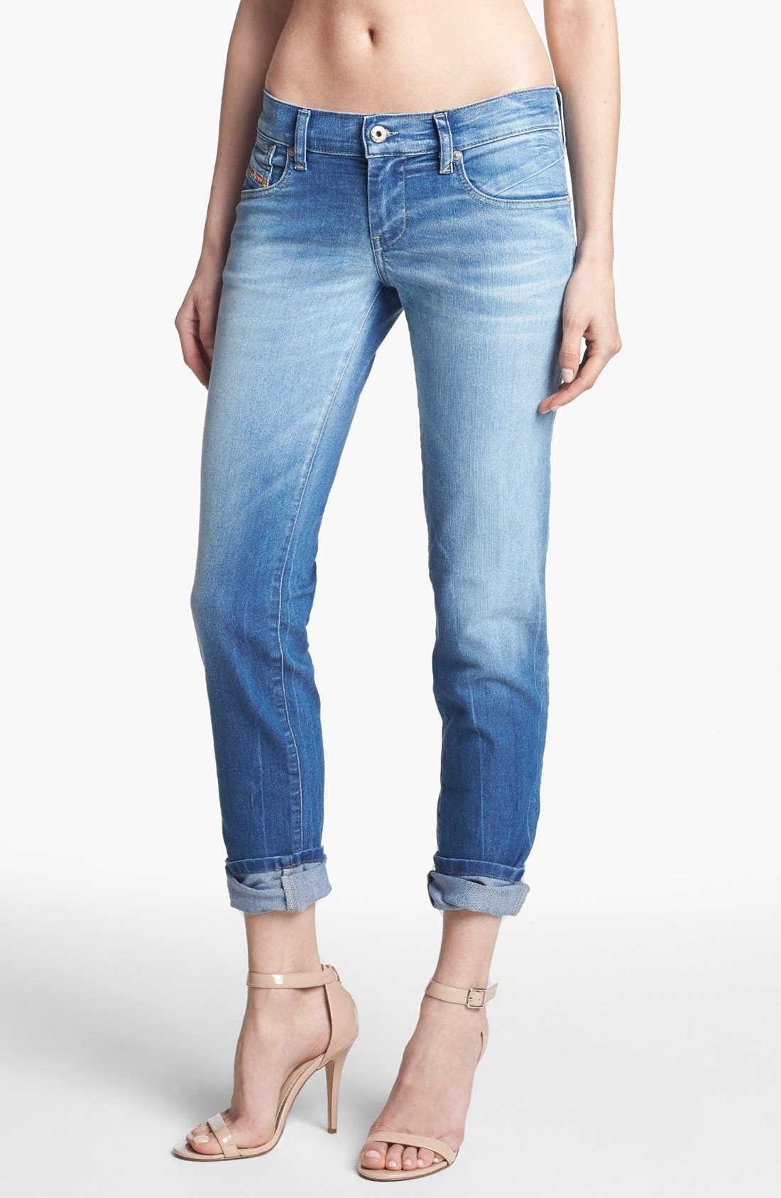 Alternate Image 1 Selected - DIESEL® 'Getlegg' Slim Skinny Jeans (Light Blue)