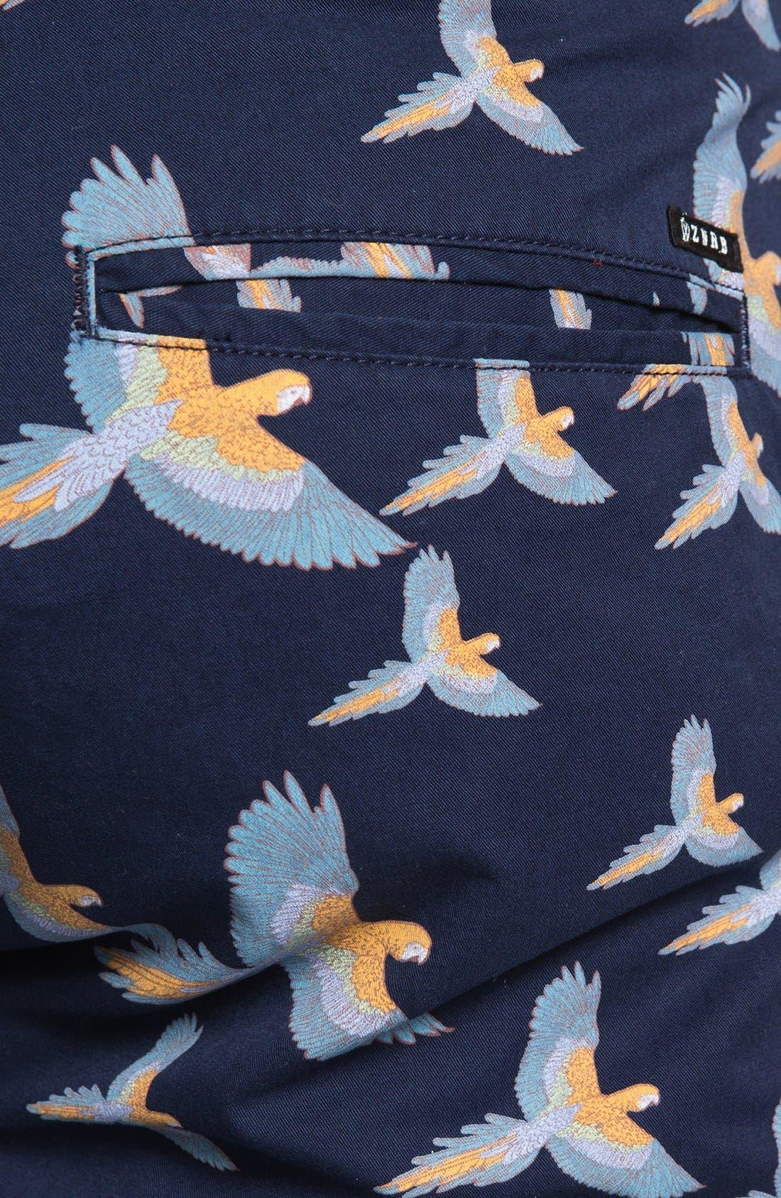 Alternate Image 3  - ZANEROBE 'Parrot' Print Chino Shorts