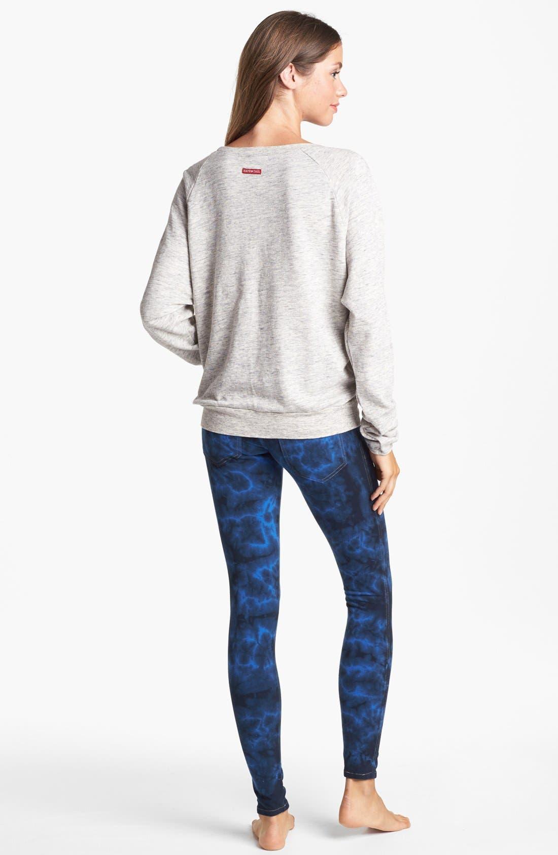 Alternate Image 4  - Hard Tail Raglan Sleeve Sweatshirt (Online Only)
