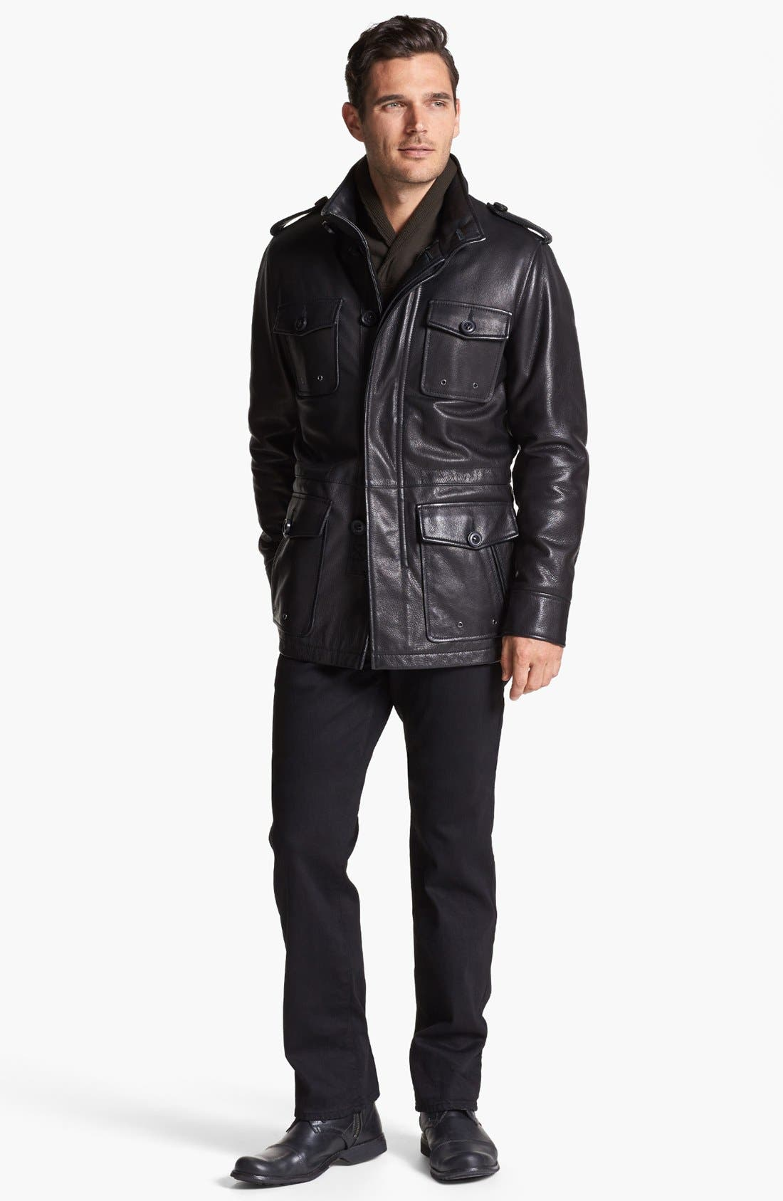Alternate Image 4  - Vince Camuto Leather Field Jacket