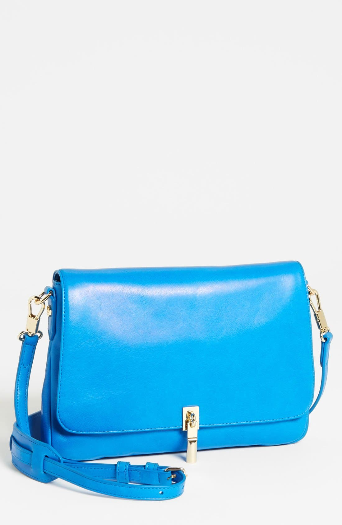 Main Image - Elizabeth and James 'Mini' Coated Leather Crossbody Bag