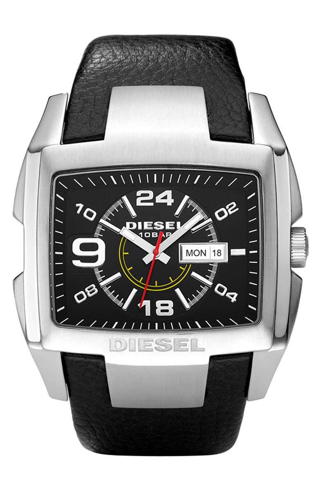 Main Image - DIESEL® 'Bugout' Layered Dial Watch, 54mm x 49mm