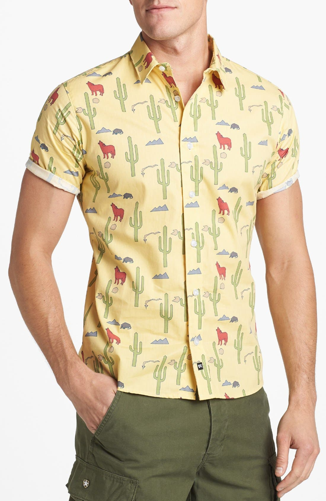 Alternate Image 1 Selected - ambsn 'Danny' Short Sleeve Sport Shirt