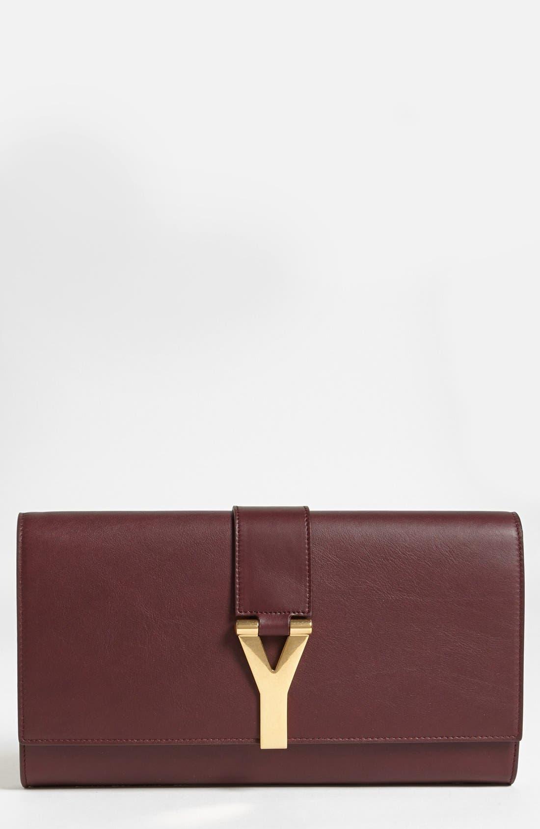Main Image - Saint Laurent 'Y' Leather Clutch