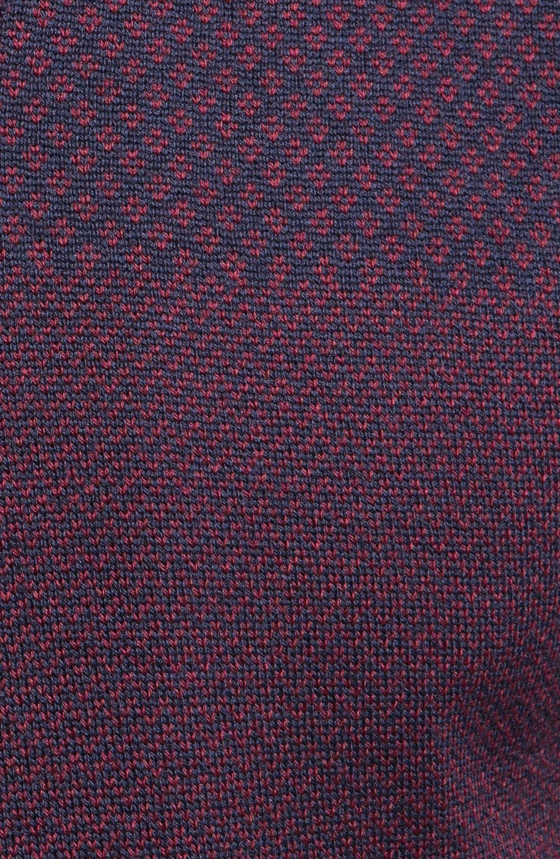 Alternate Image 3  - Etro Jacquard Wool V-Neck Sweater