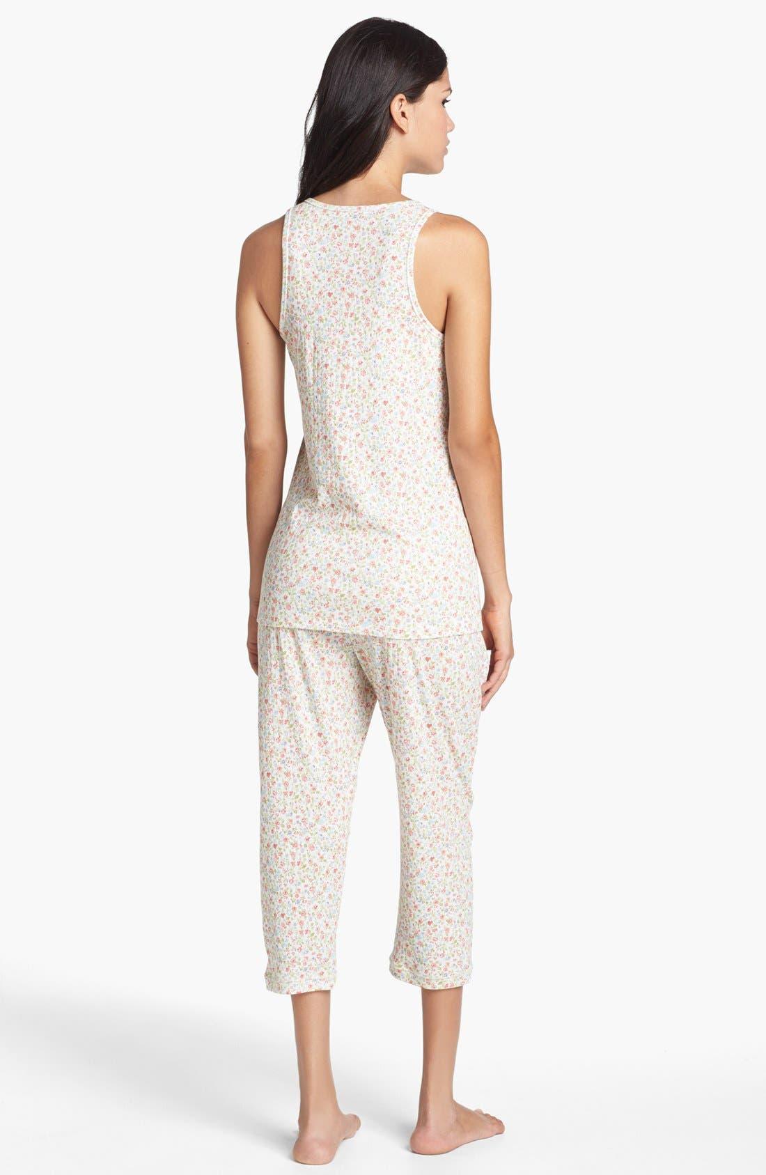 Alternate Image 2  - Carole Hochman Designs 'Liberty Floral' Capri Pajamas