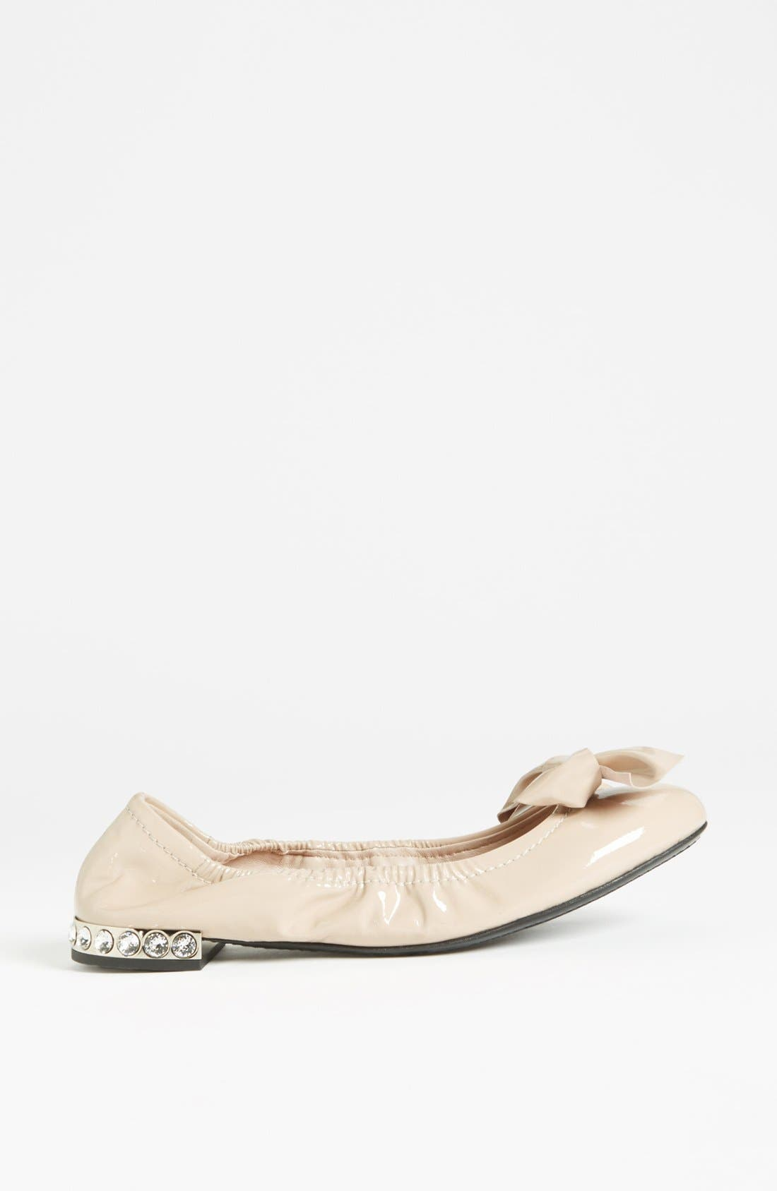 Alternate Image 4  - Miu Miu Jeweled Heel Ballerina Flat
