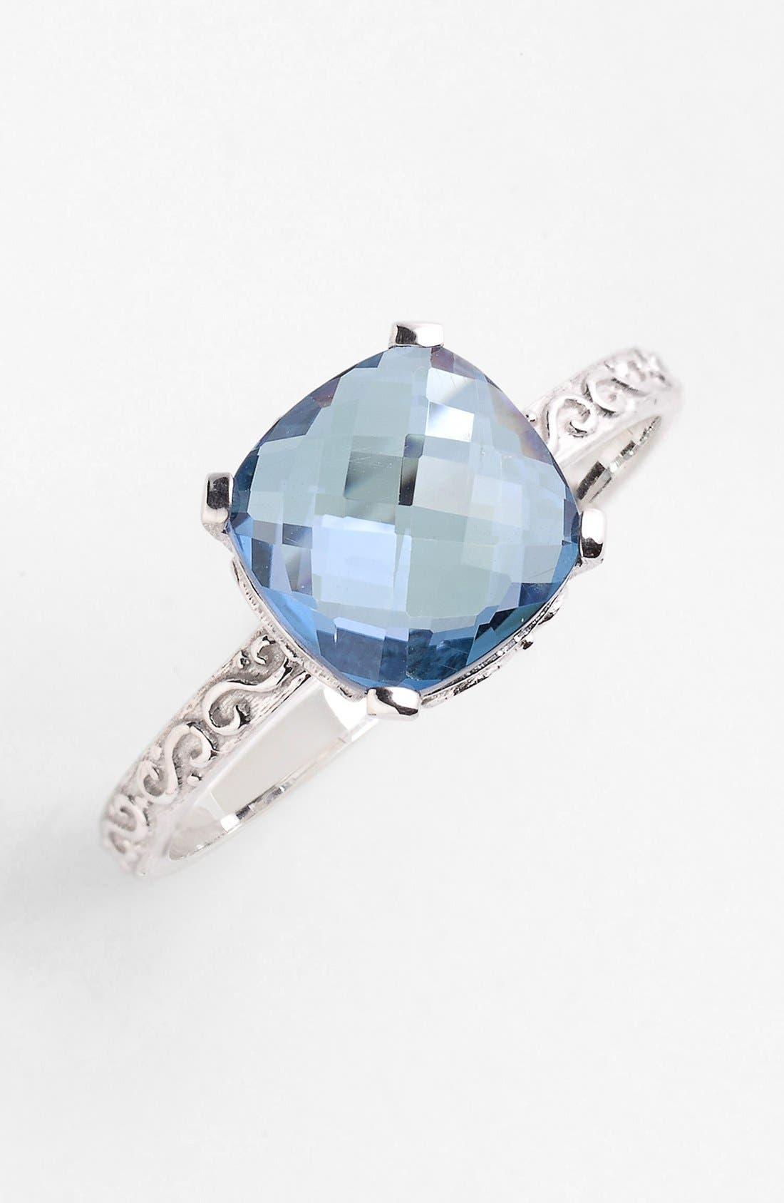 Alternate Image 1 Selected - KALAN by Suzanne Kalan Cushion Stone Filigree Ring
