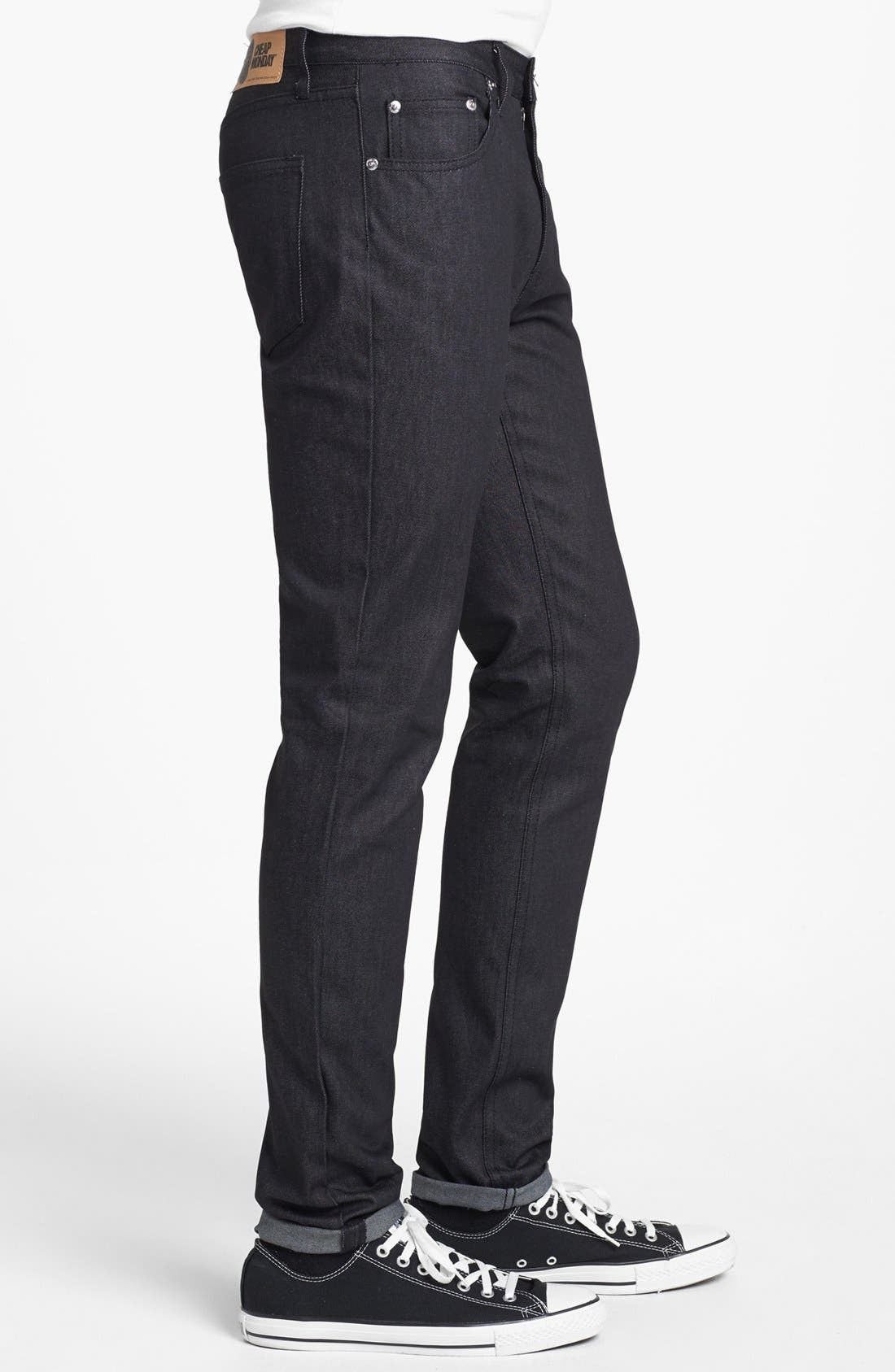 Alternate Image 3  - Cheap Monday 'Four' Slim Straight Leg Jeans (Dry Black)