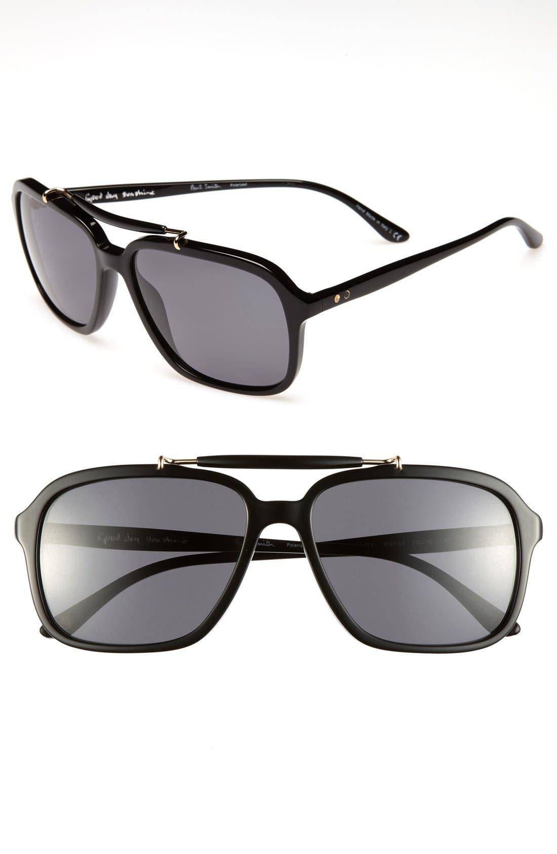 Alternate Image 1 Selected - Paul Smith 'Walton' 59mm Polarized Sunglasses