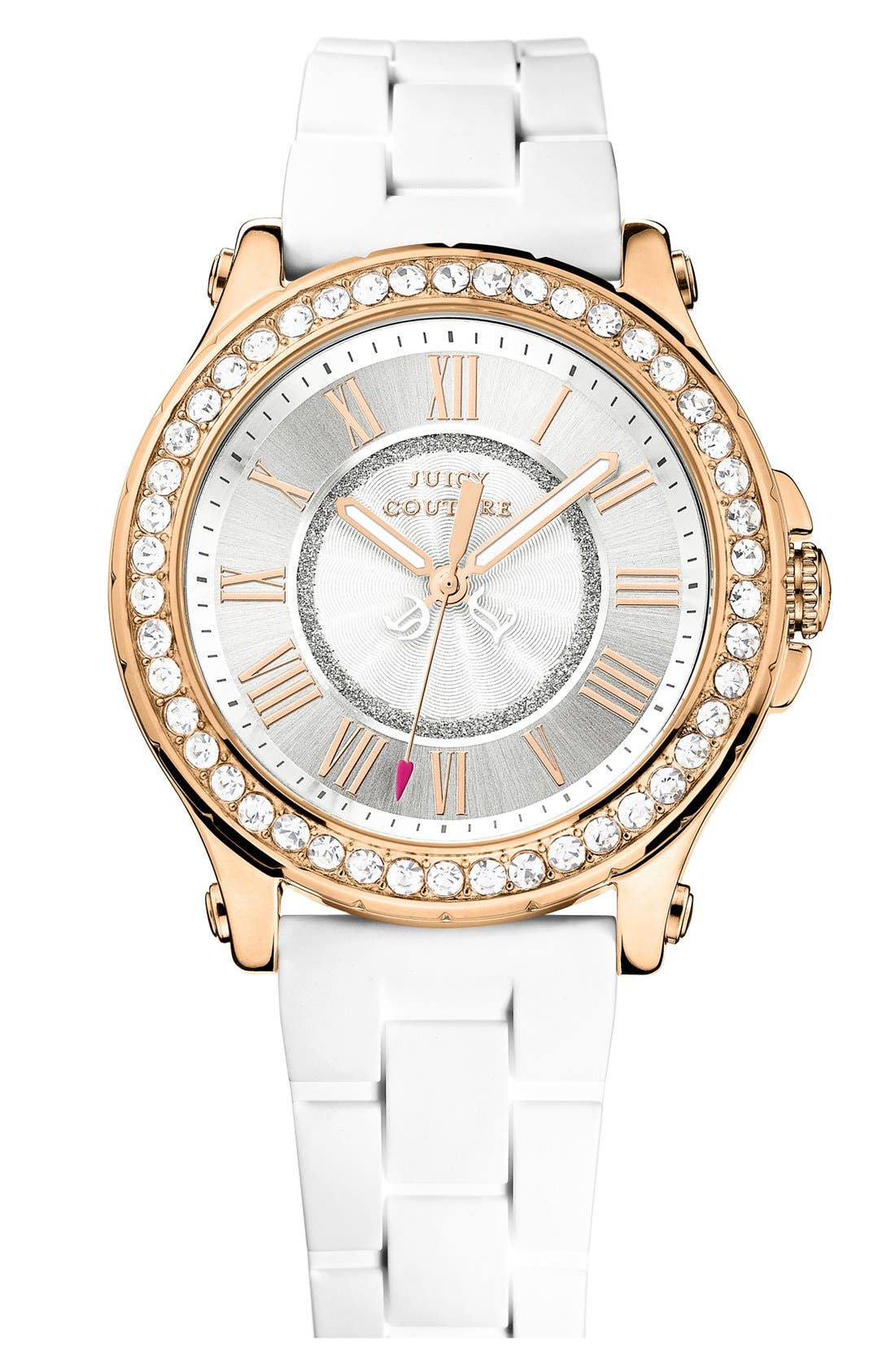 Main Image - Juicy Couture 'Pedigree' Jelly Strap Watch, 38mm