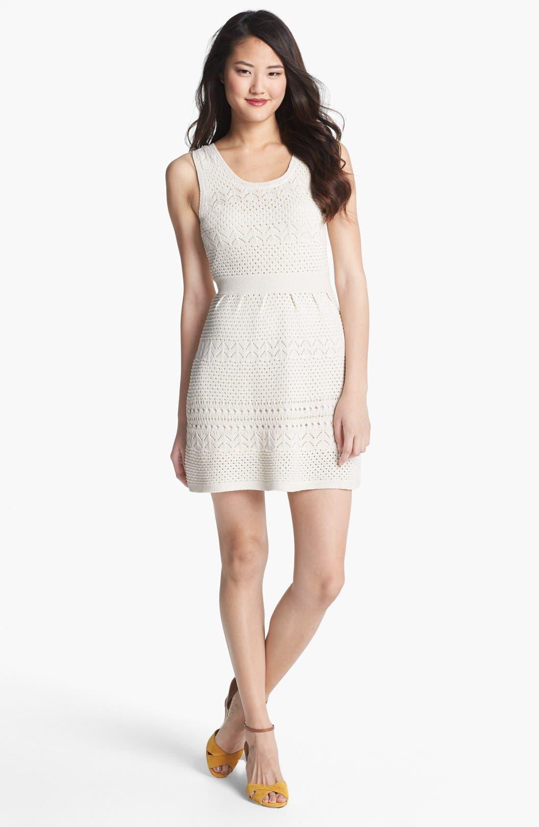 Alternate Image 1 Selected - Jessica Simpson 'Belchic' Open Knit Dress