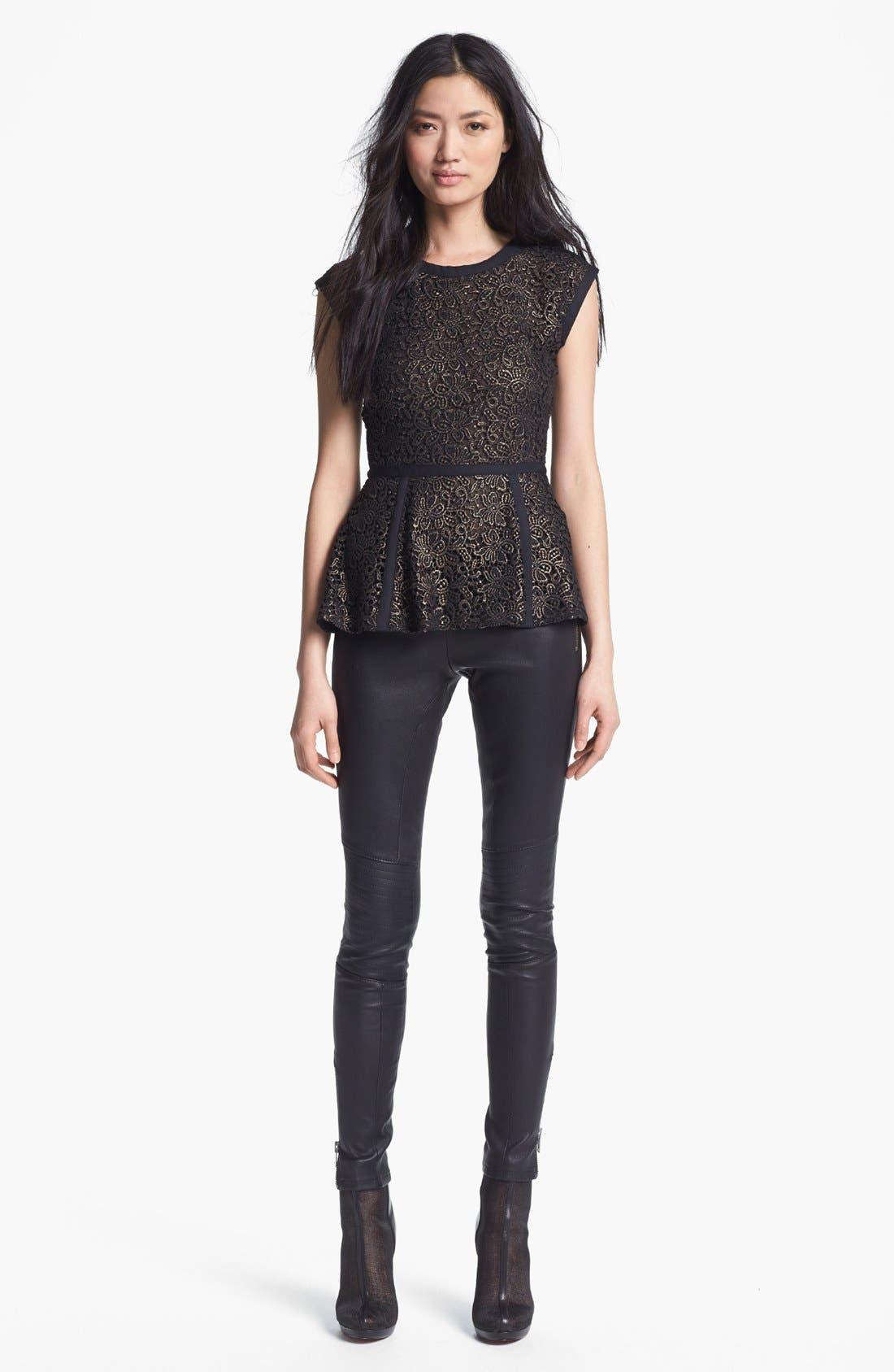 Alternate Image 3  - Rachel Zoe 'Maxine' Skinny Stretch Leather Pants