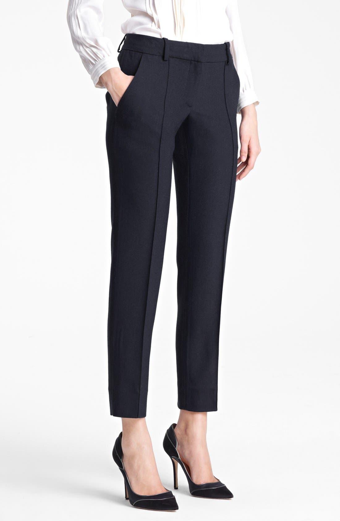 Main Image - Oscar de la Renta Slim Crop Pants