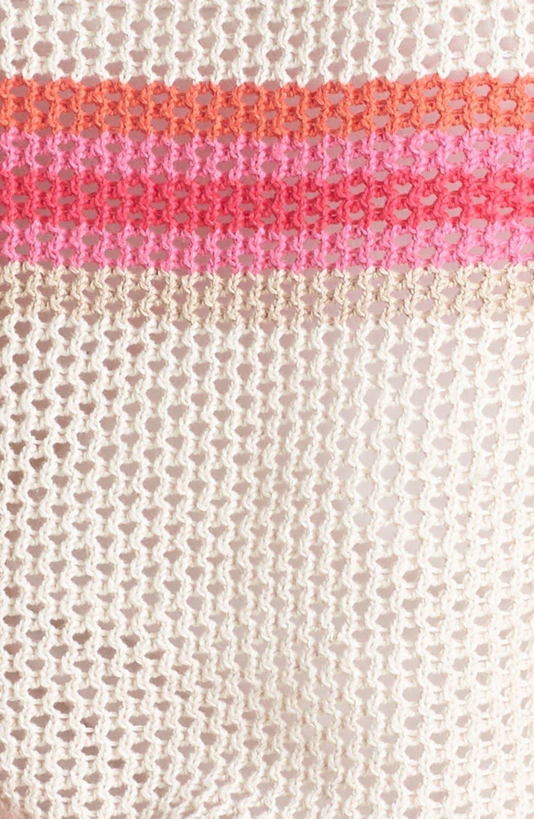 Alternate Image 3  - Halogen® Stripe Open Weave Sweater
