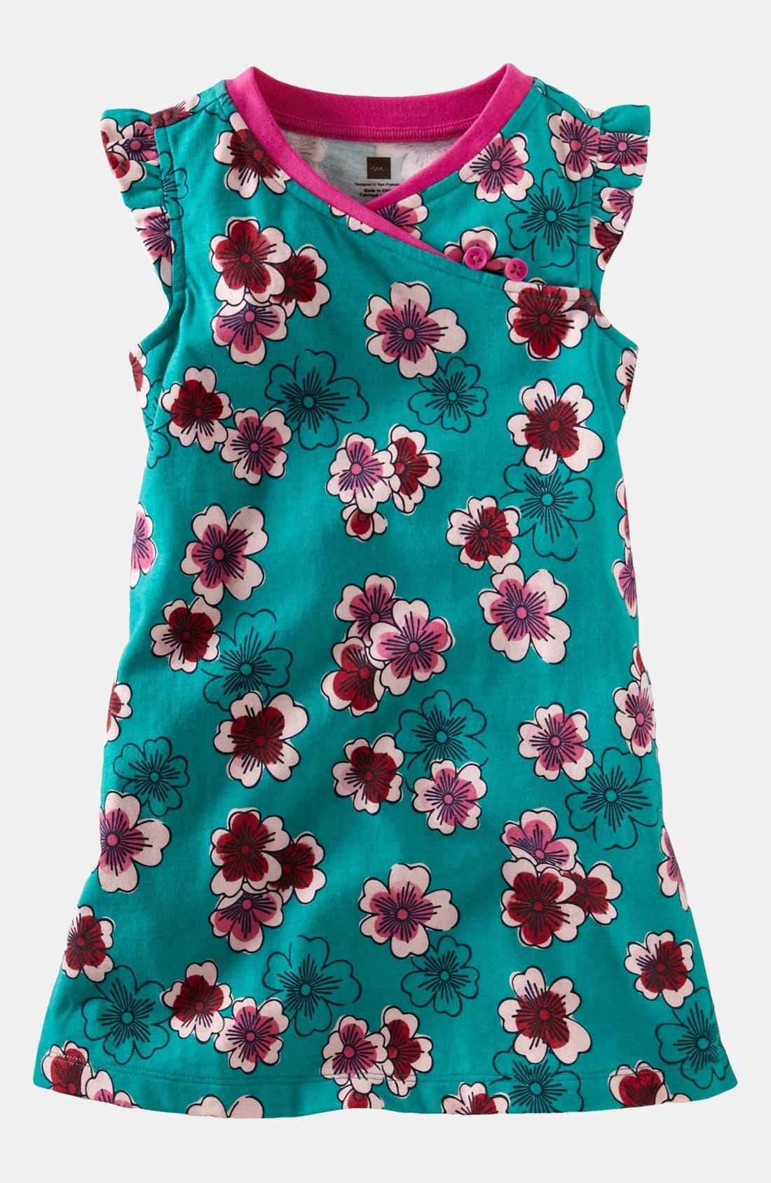 Main Image - Tea Collection 'Plum Blossom' Minidress (Little Girls & Big Girls)