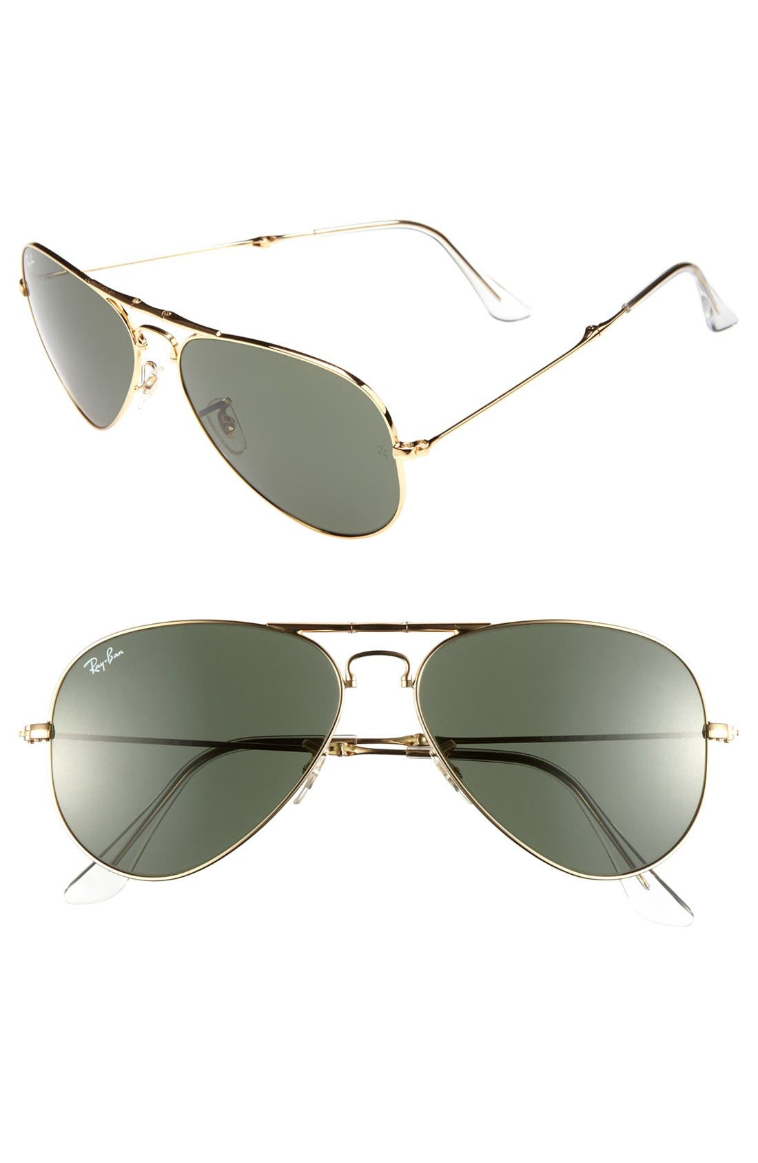 Alternate Image 1 Selected - Ray-Ban 58mm Folding Sunglasses