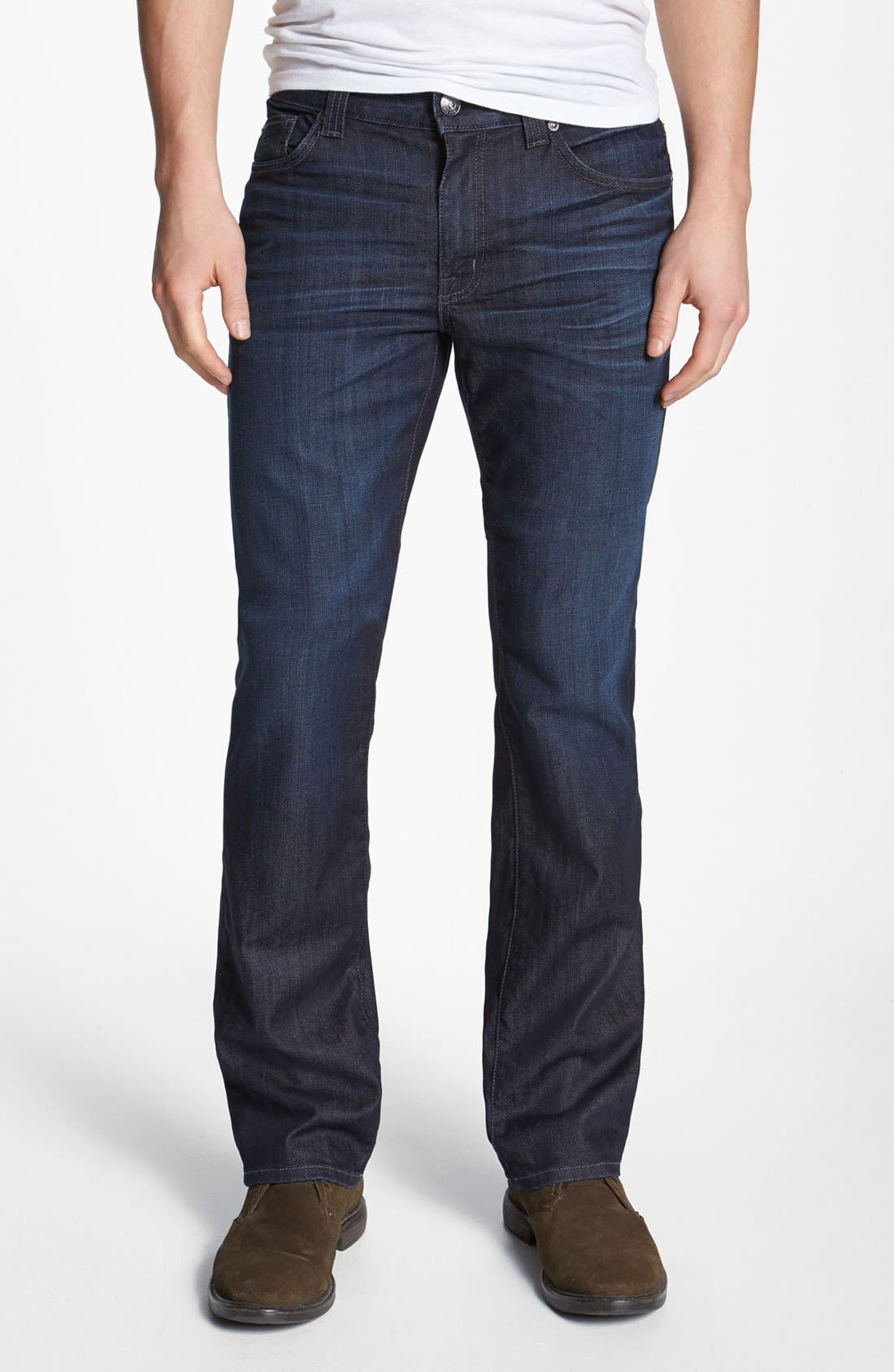 Alternate Image 1 Selected - Fidelity Denim 'Impala' Straight Leg Jeans (Lennon Dark Wash)