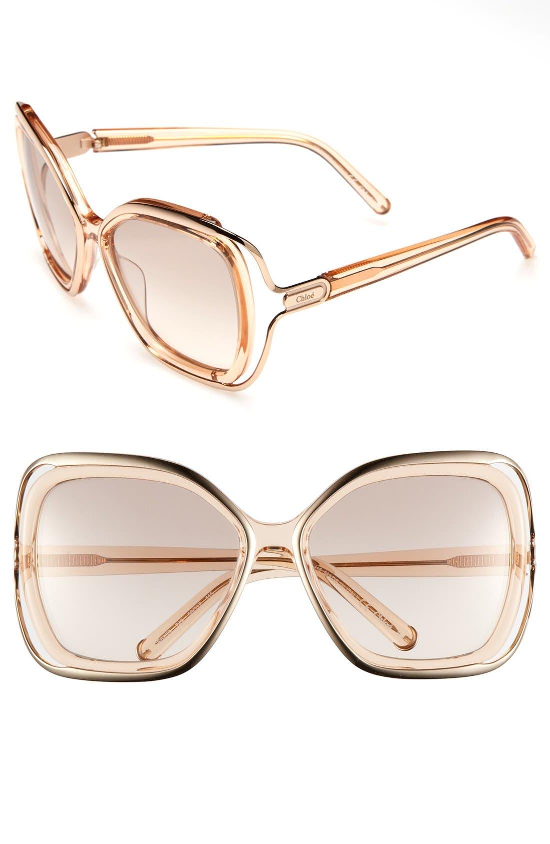 Alternate Image 1 Selected - Chloé 56mm Sunglasses