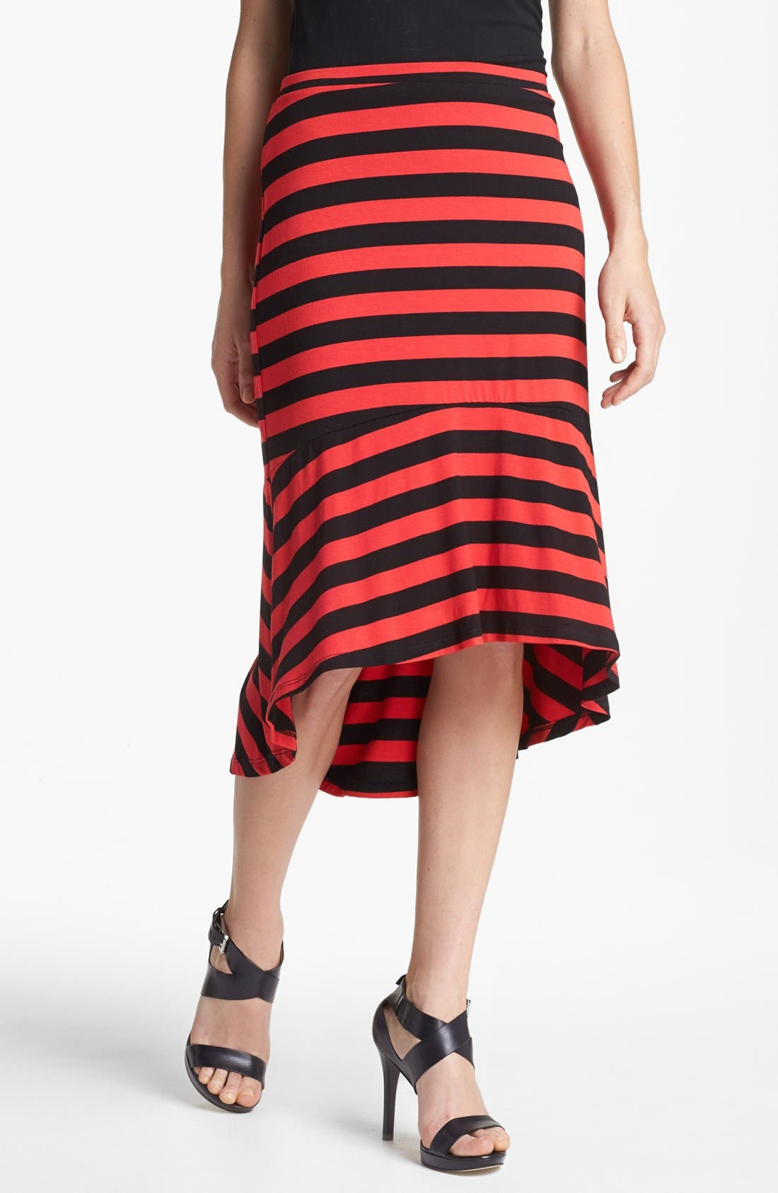Alternate Image 1 Selected - MOD.lusive Flared High/Low Skirt