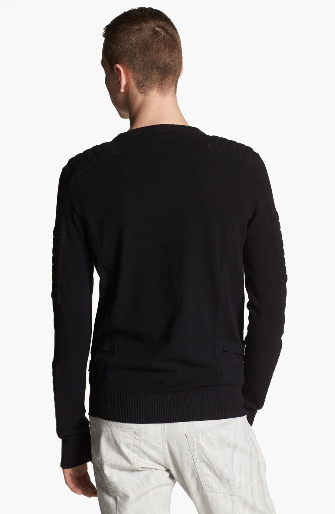 Alternate Image 2  - Pierre Balmain Padded Crewneck Sweater (Online Only)