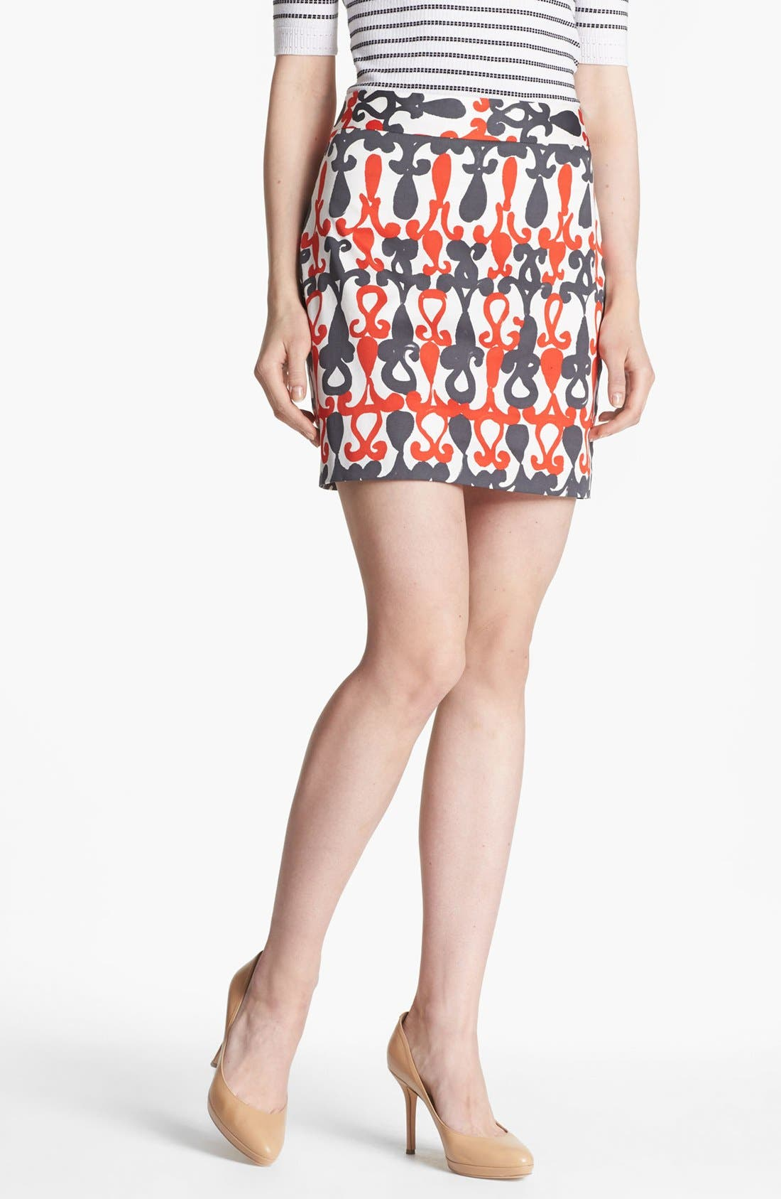 Alternate Image 1 Selected - Milly 'Combo' Print Miniskirt