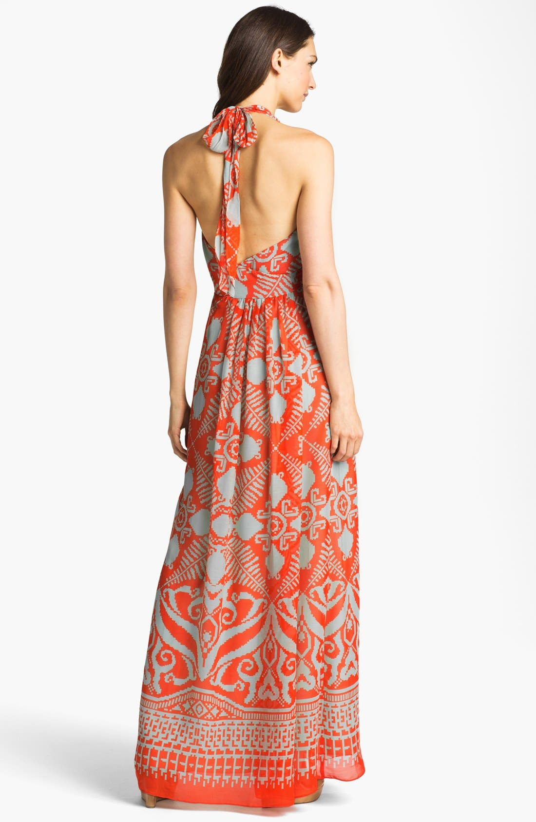 Alternate Image 2  - Milly 'Gustavia' Cotton & Silk Halter Dress