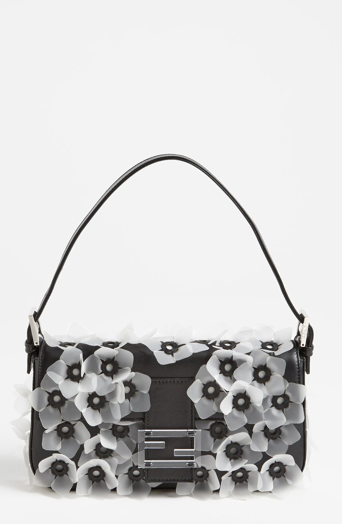 Main Image - Fendi 'Flower' Leather Baguette