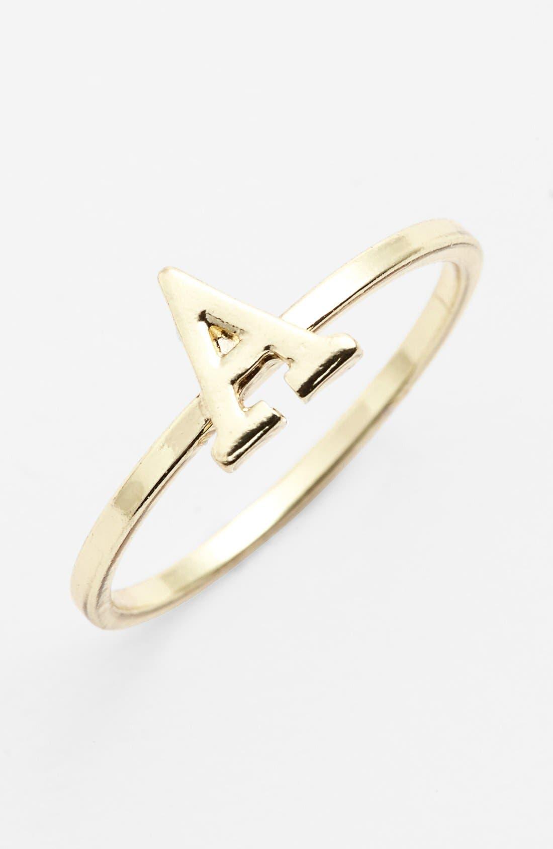 Main Image - Carole Initial Midi Ring