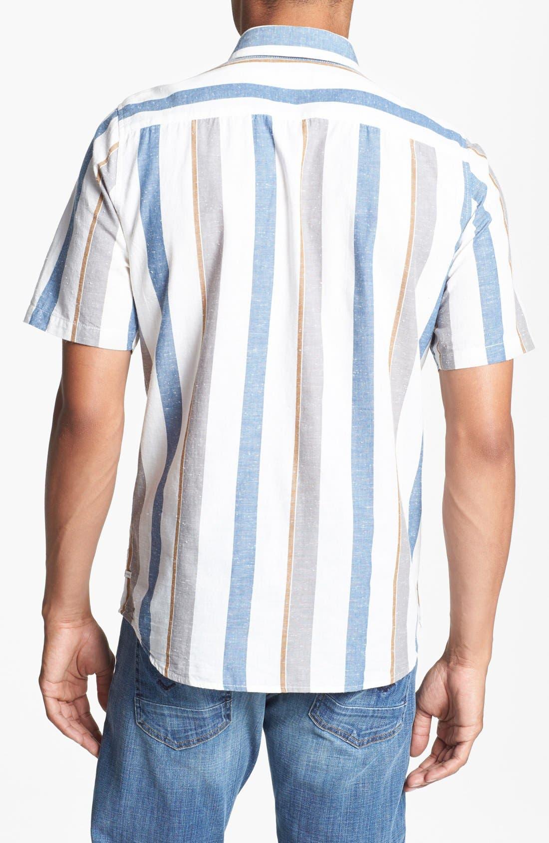 Alternate Image 3  - Volcom 'Memento' Stripe Print Woven Shirt
