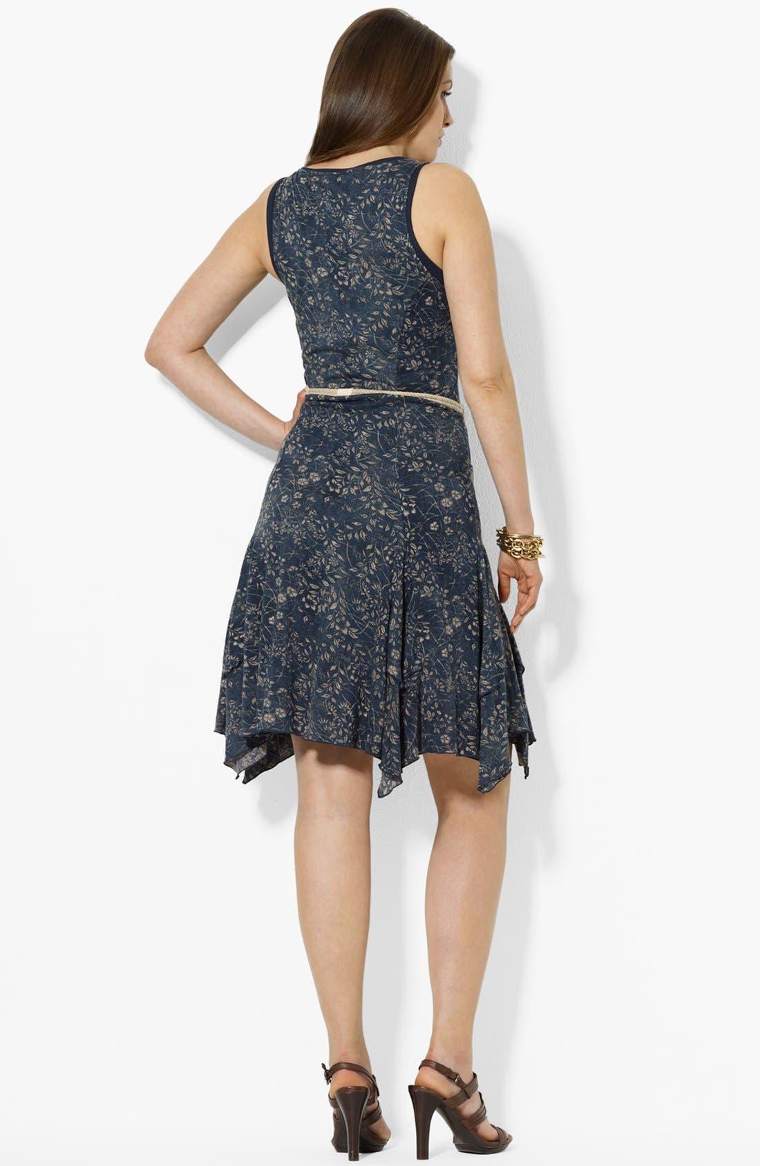 Alternate Image 2  - Lauren Ralph Lauren Print Cotton Tank Dress (Plus Size)