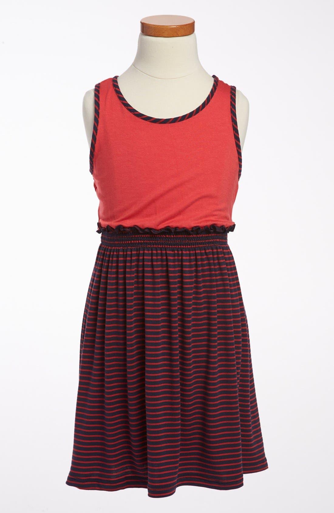Alternate Image 1 Selected - Soprano Stripe Tank Dress (Little Girls & Big Girls)