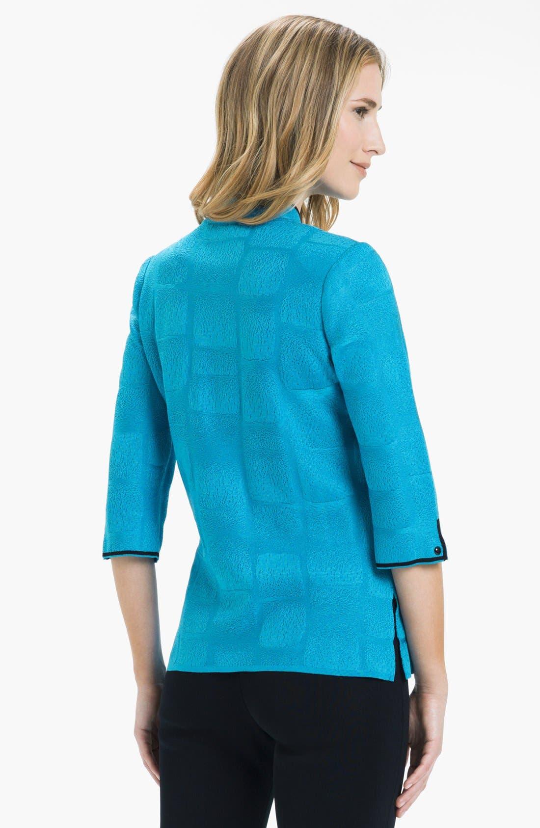 Alternate Image 2  - Ming Wang Check Jacquard Knit Jacket