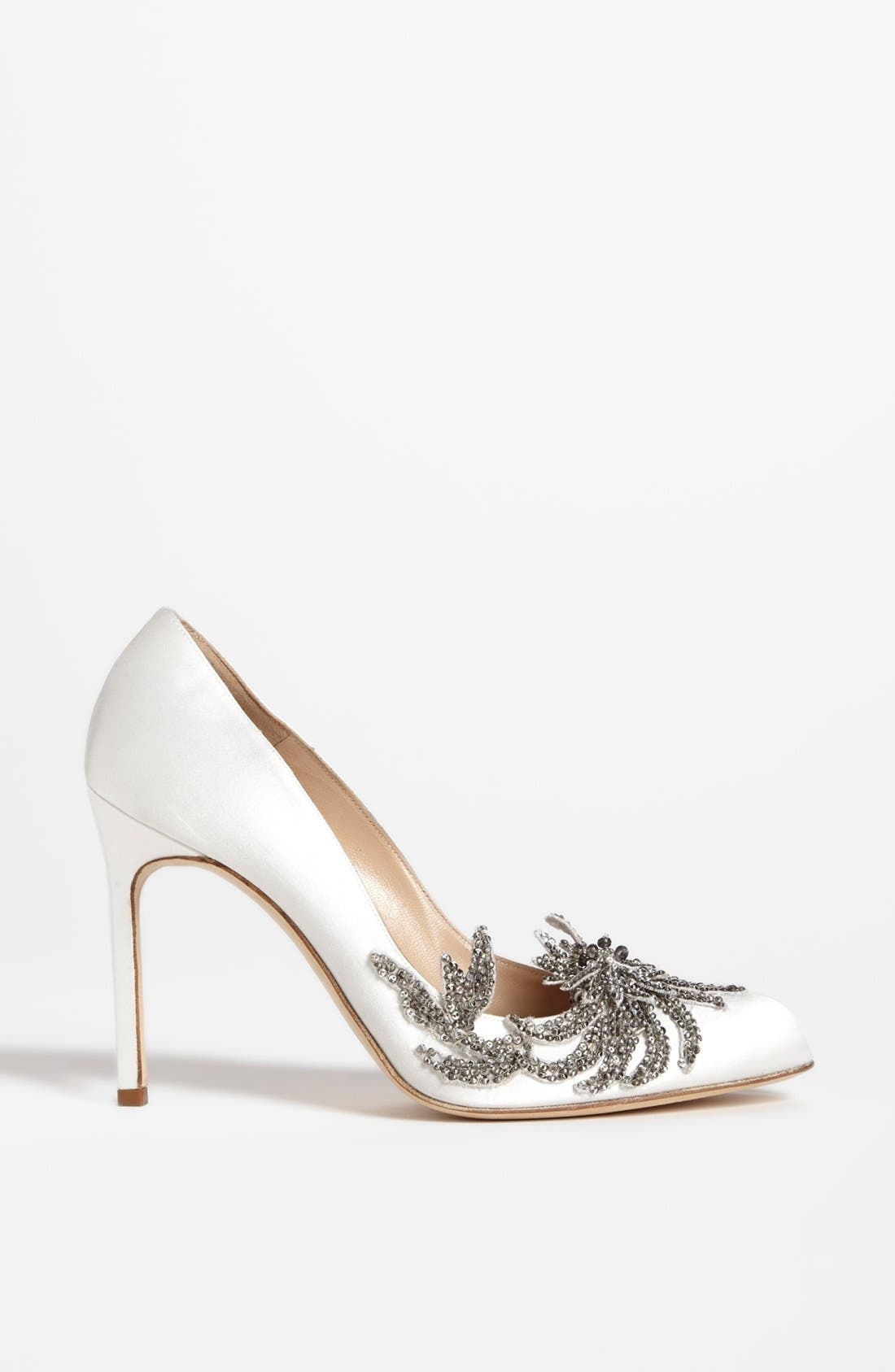 Alternate Image 4  - Manolo Blahnik 'Swan' Pump (Women)
