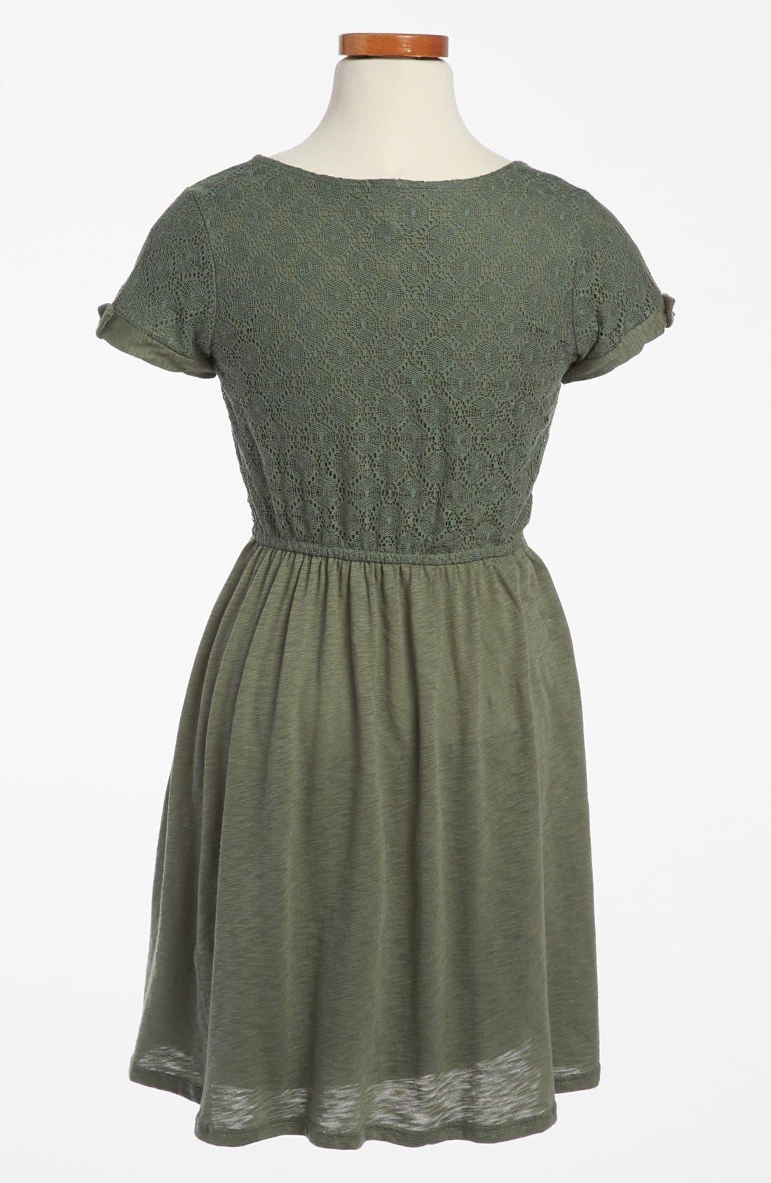 Alternate Image 2  - Splendid Lace Dress (Big Girls)