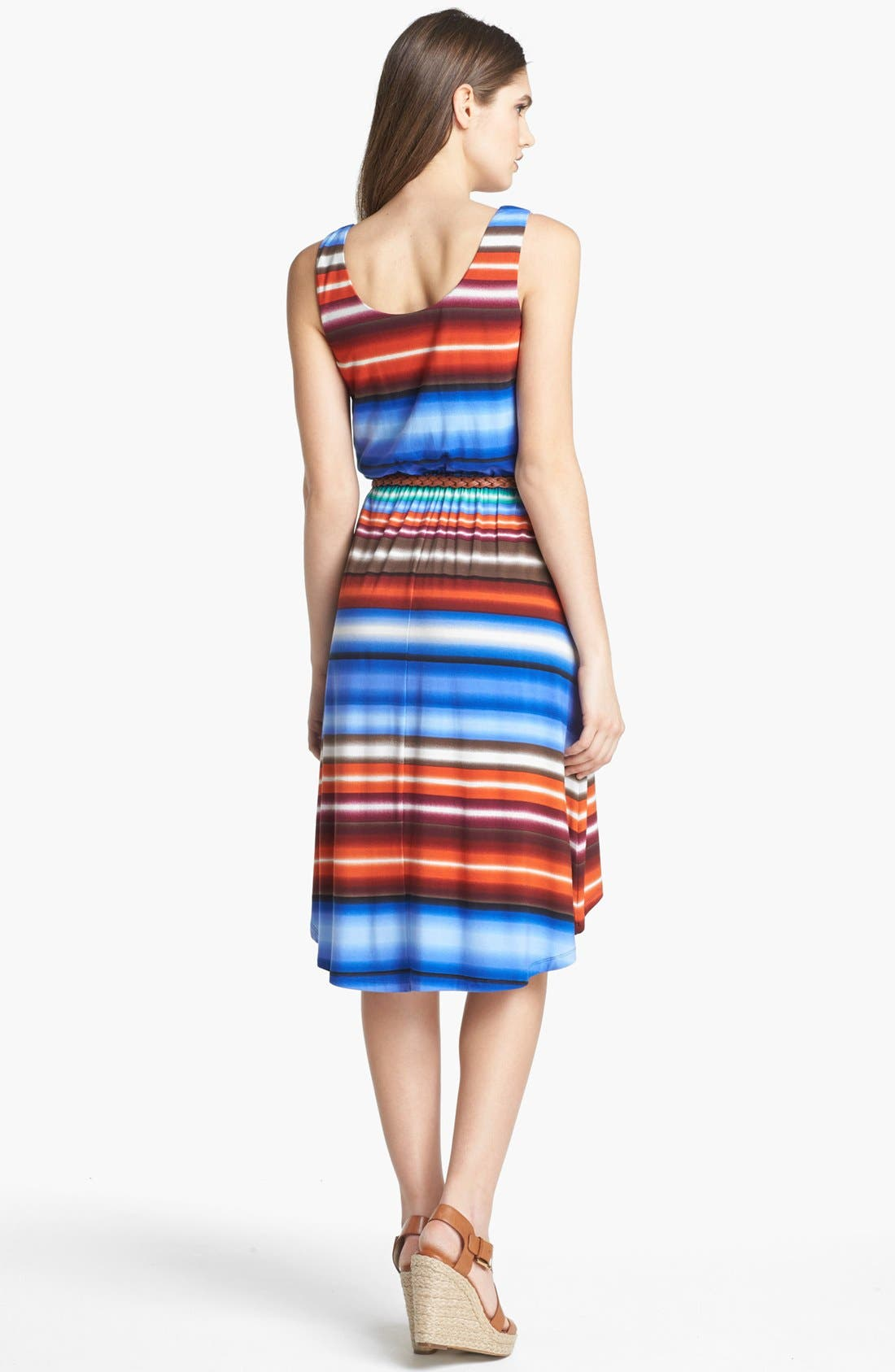 Alternate Image 2  - Calvin Klein Stripe Tank Dress (Petite)