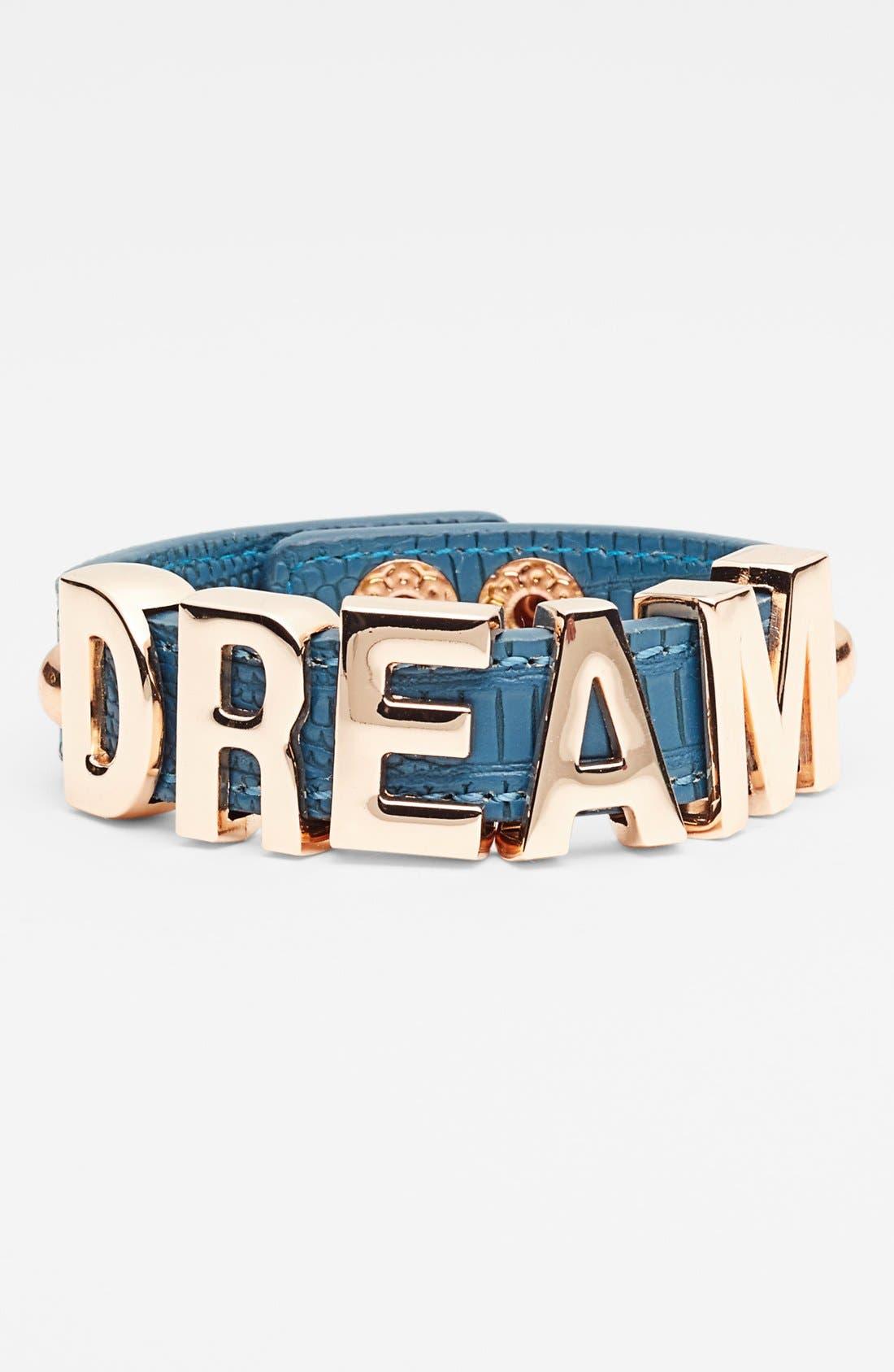 Main Image - BCBGeneration 'Affirmation - Alligator' Faux Leather Bracelet