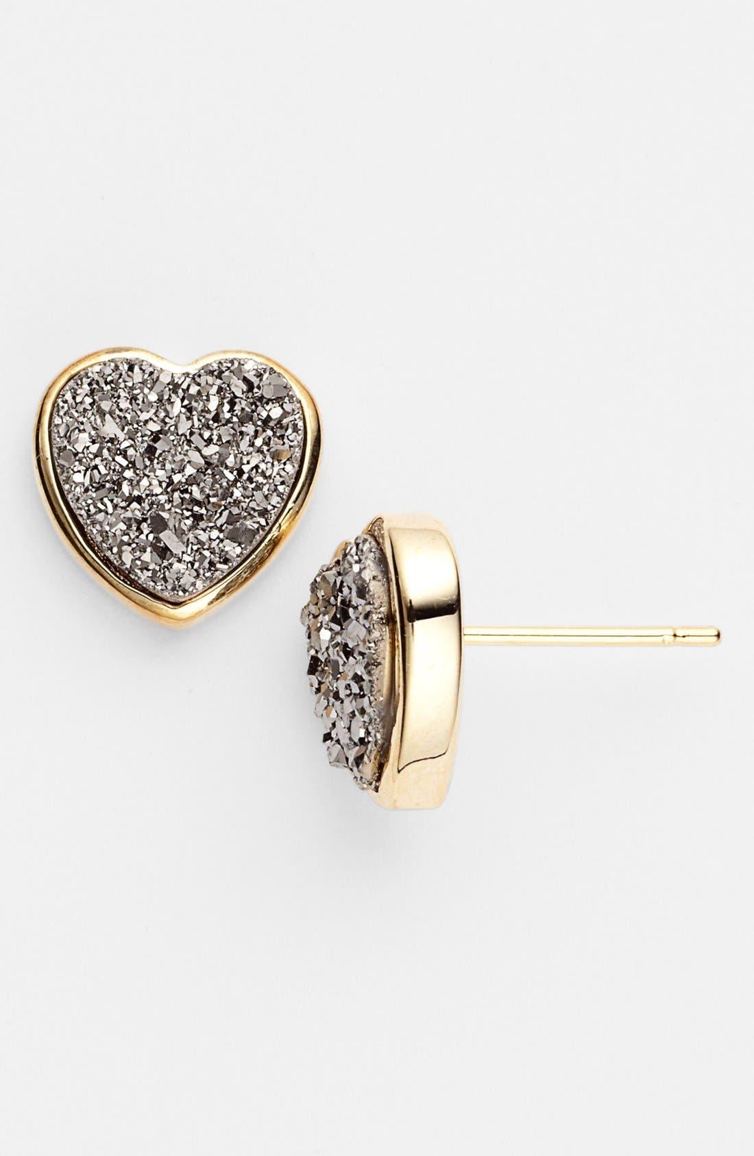 Alternate Image 1 Selected - Marcia Moran 'Drusy Extravaganza' Heart Stud Earrings (Online Only)