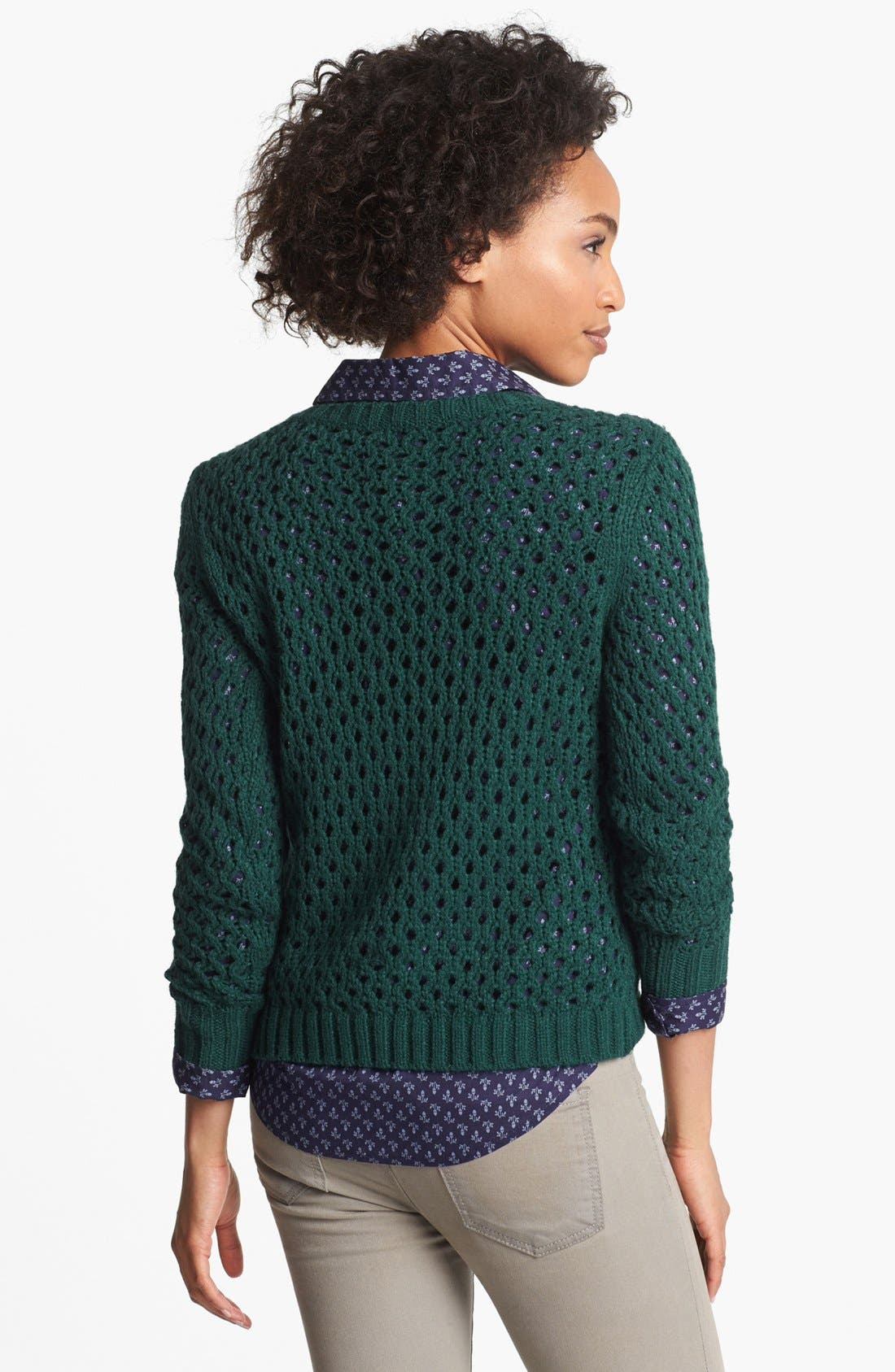 Alternate Image 2  - Halogen® Open Knit Cable Sweater