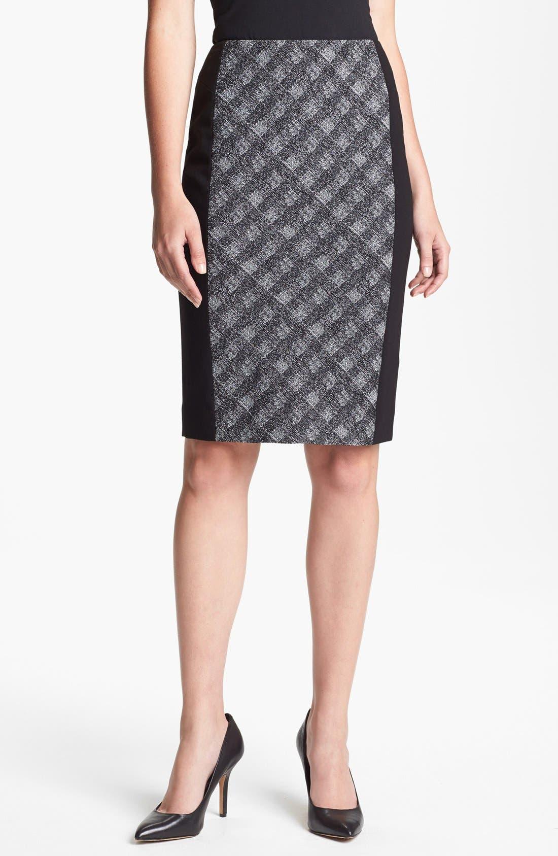 Alternate Image 1 Selected - Classiques Entier® 'Twist Check' Skirt